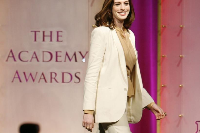 5. Anne Hathaway and Lancome