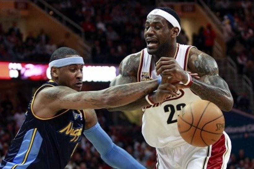 Carmelo Anthony and LeBron James play for new teams