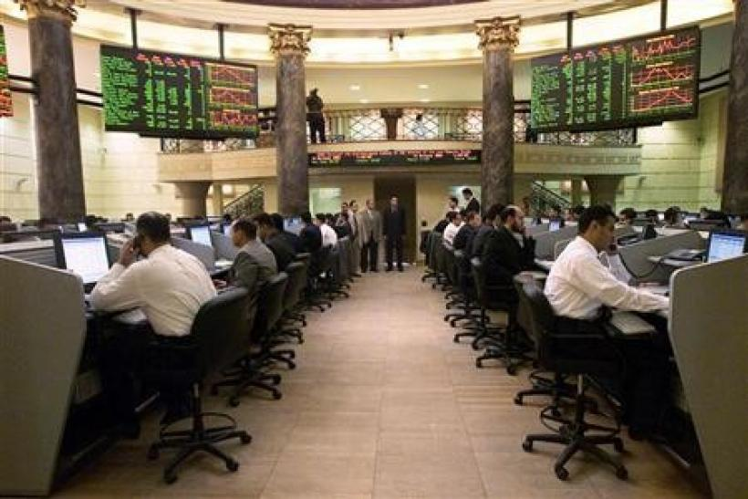 A view of the Cairo stock exchange