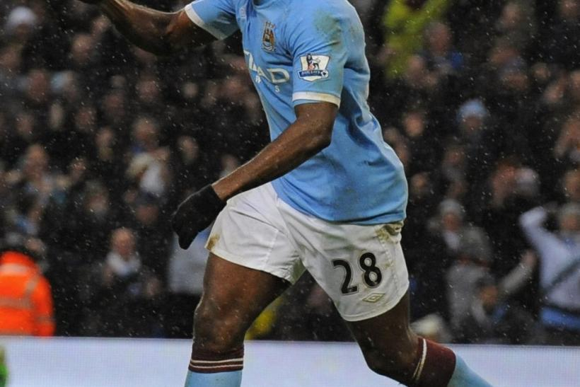 Toure captain Manchester City in the 2009-10 season.