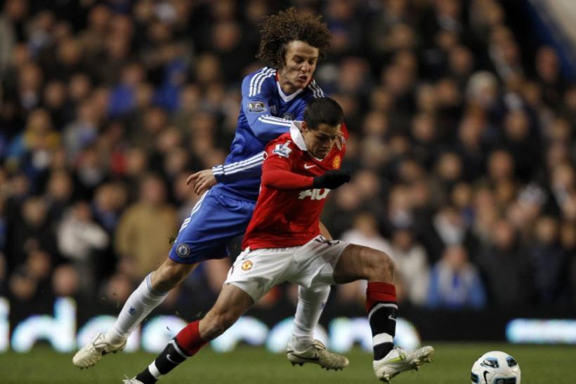 Luiz tread dangerously against Manchester United.