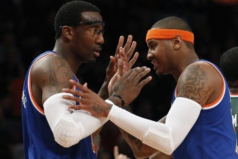 Carmelo Anthony and Amare Stoudemire are coexisting