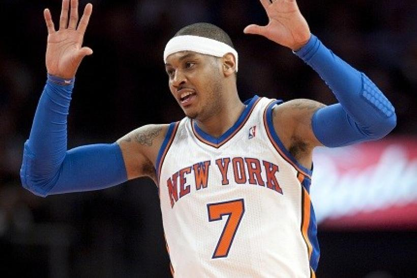 Carmelo Anthony scored 25 points, but the Knicks lost