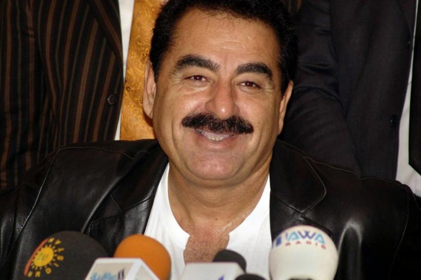 One of Turkey's best known singers, Ibrahim Tatlises, talks at a news conference in Arbil November 1..