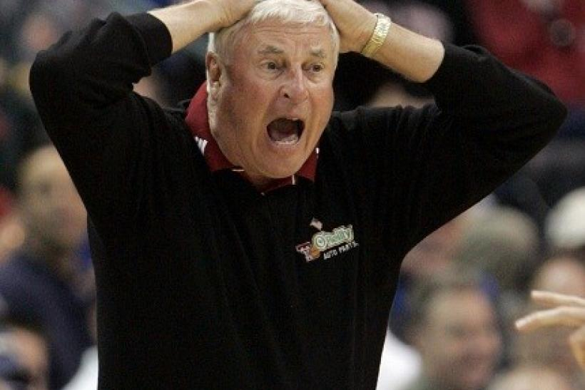 Bobby Knight appeared to be sleeping on the air