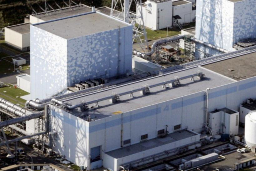 File photo gives aerial view of Tokyo Electric Power Co.'s Fukushima Daiichi Nuclear Plant No.4 reactor in Fukushima Prefecture