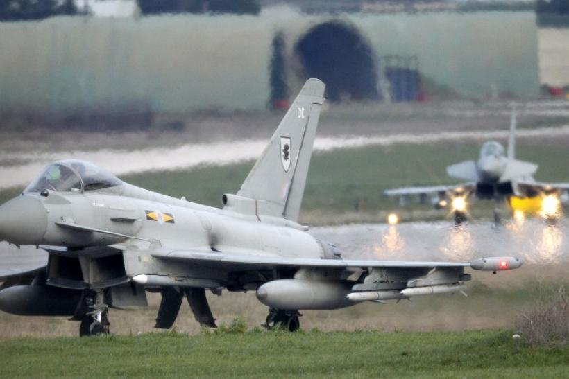 ritish Eurofighter EF-2000 Typhoon jets land at the Gioia del Colle NATO Airbase in southern Italy March 20, 2011.