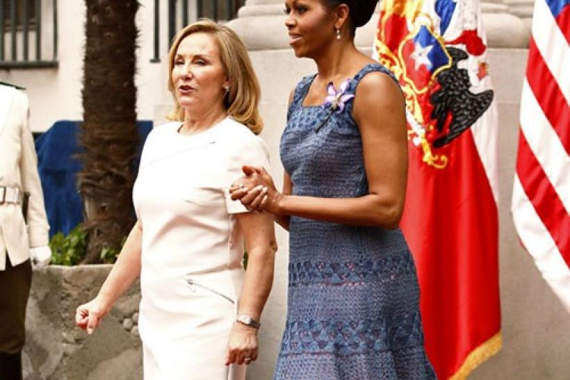First Lady Michelle Obama dazzles Chile with her fashion sense (PHOTOS)