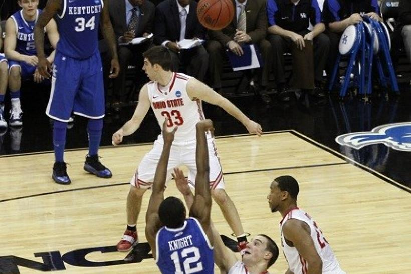 Against Ohio State, the Kentucky Wildcats advanced on Brandon Knight's shot