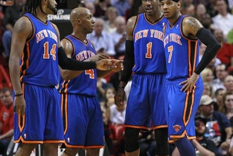 The Knicks face the New Jersey Nets