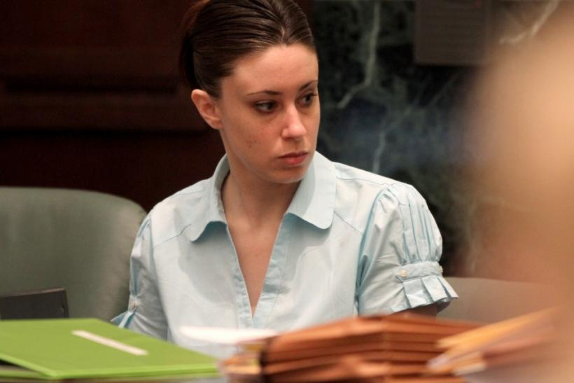 Casey Anthony waits for the start of court in the eight day of her murder trial at the Orange County Courthouse in Orlando, Florida