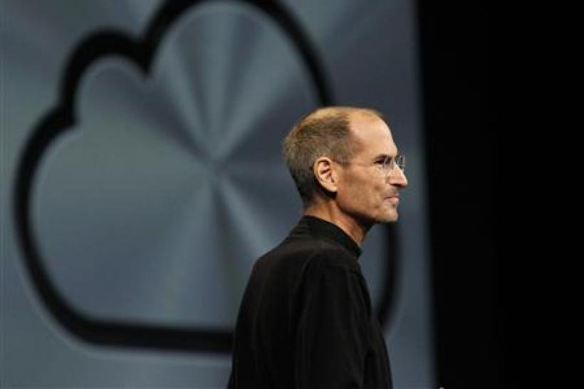 Steve Jobs takes the stage to discuss the iCloud service on June 6 at the Apple Worldwide Developers Conference in San Francisco