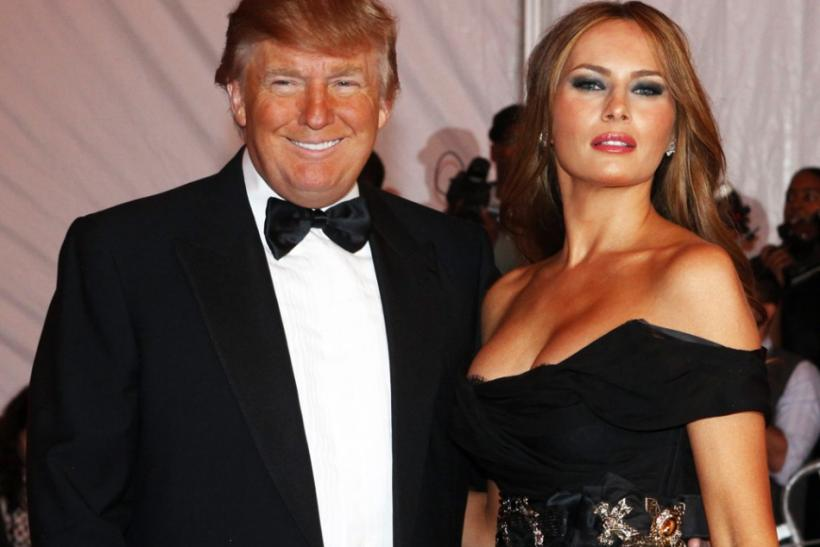 Donald Trump and his wife Melania pose at the Metropolitan Museum of Art Costume Institute Gala, The Model As Muse: Embodying Fashion in New York