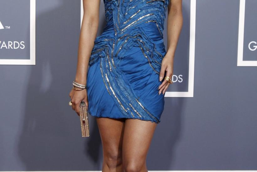 Keri Hilson poses at the 53rd annual Grammy Awards in Los Angeles