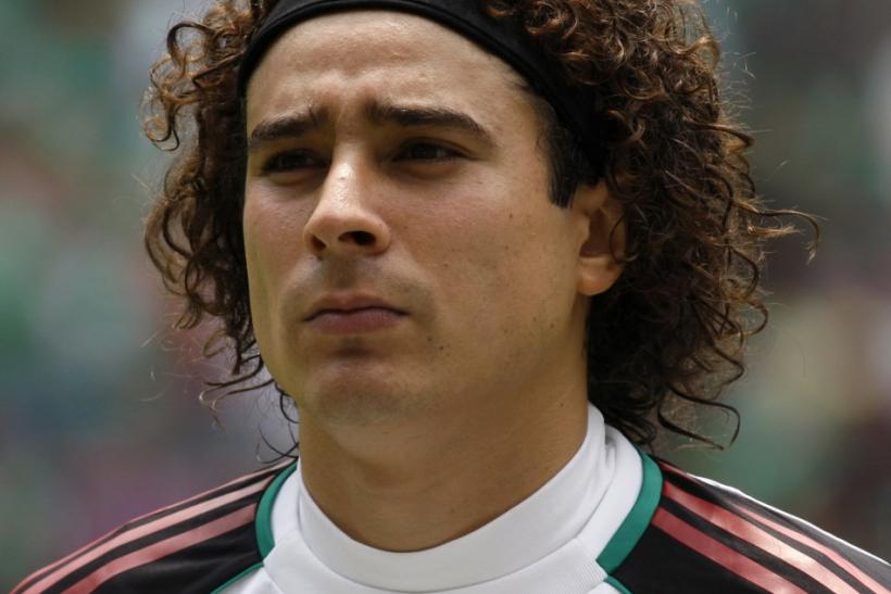 Mexico's goalkeeper Guillermo Ochoa, one of five Mexican players suspended for a doping violation.