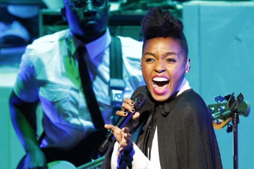 Janelle Monae performs at the Gibson Amphitheatre in Universal City