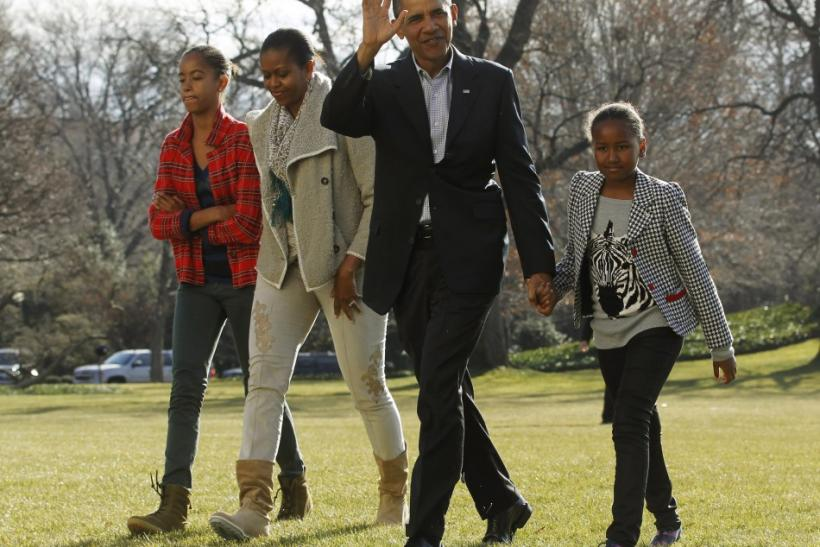 U.S. President Barack Obama and family