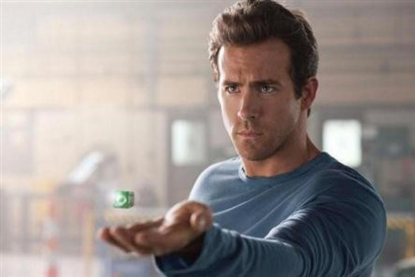 Ryan Reynolds in a scene from ''Green Lantern''.