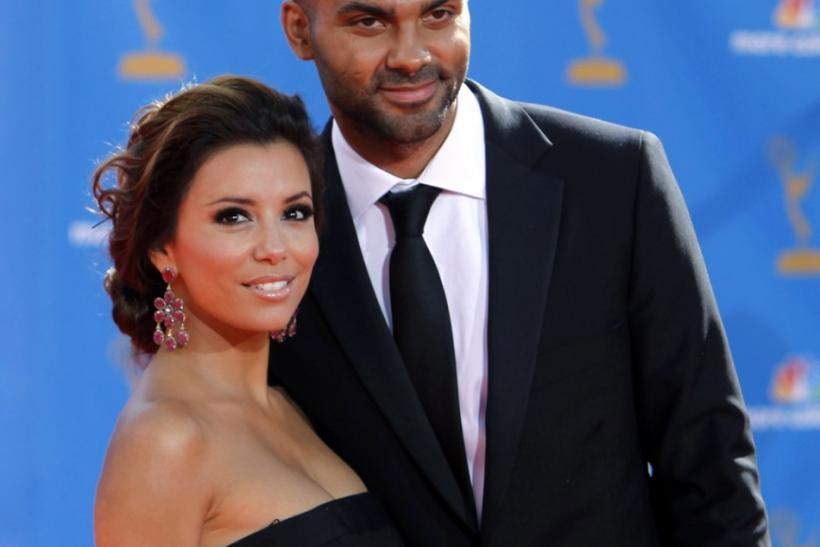 Actress Eva Longoria Parker and husband Tony arrive at the 62nd annual Primetime Emmy Awards in Los Angeles