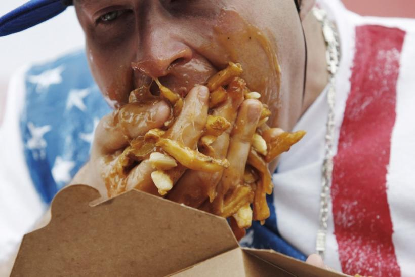 "Pete ""Pretty Boy"" Davekos takes part in the ""World Poutine Eating Championship"""