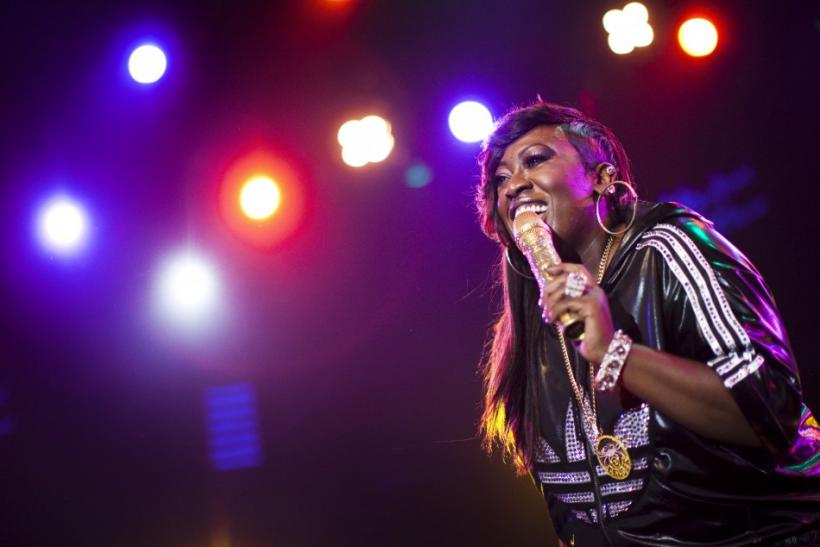 U.S. hip-hop singer Missy Elliott performs onstage during the 44th Montreux Jazz Festival in Montreux
