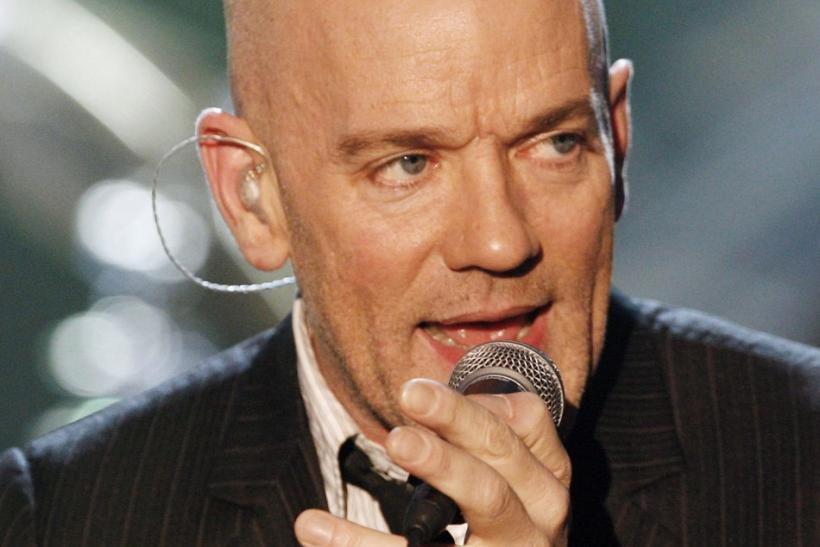 "Michael Stipe of the band R.E.M. performs during the German TV show ""Wetten dass...?"" (Bet that..) in Erfurt"