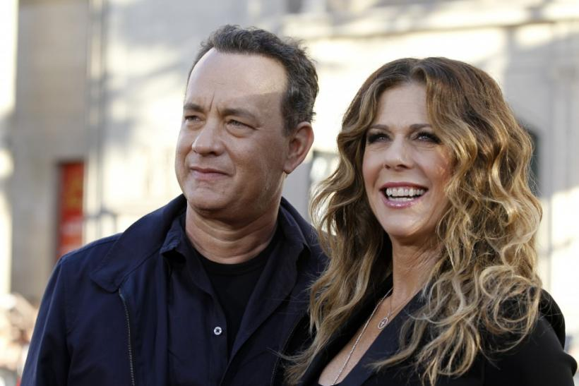 "Hanks and Wilson pose at the world premiere of ""Larry Crowne"" at the Chinese theatre in Hollywood"