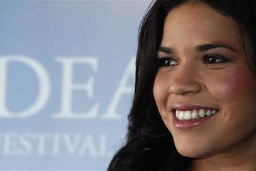 Cast member America Ferrera poses during a photocall for the film The Dry Land at the 36th American film festival in Deauville September 7, 2010.
