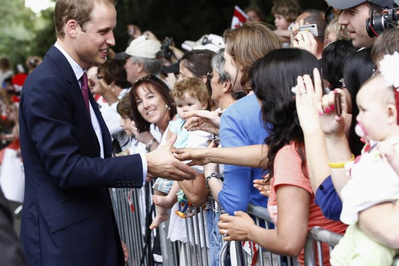 Britain's Prince William greets spectators at Rideau Hall in Ottawa