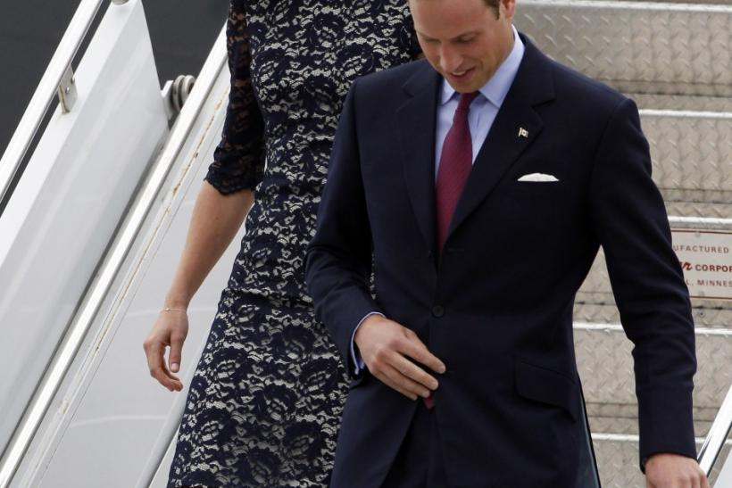 Britain's Prince William and his wife Catherine, Duchess of Cambridge arrive at Ottawa's Macdonald-Catier International Airport in Canada