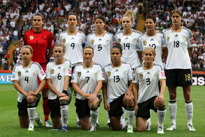 German team pose for a picture before their match against Nigeria