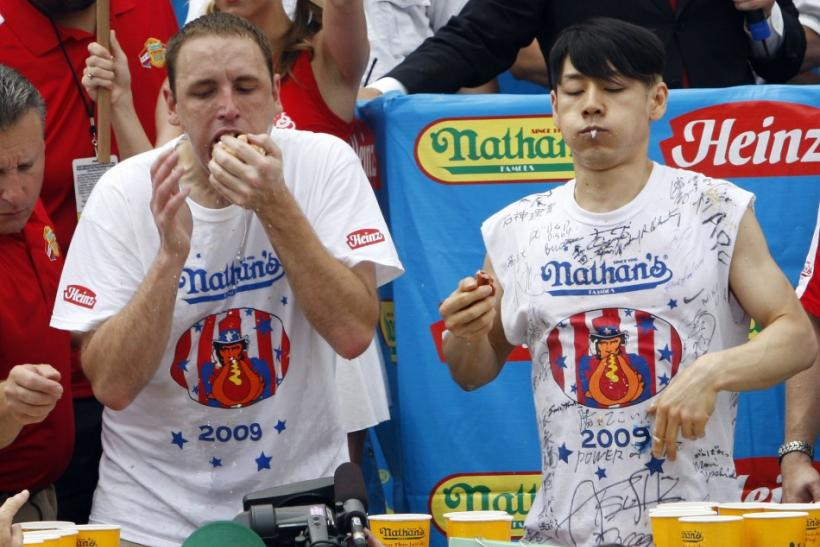 Takeru Kobayashi and Joey Chestnut