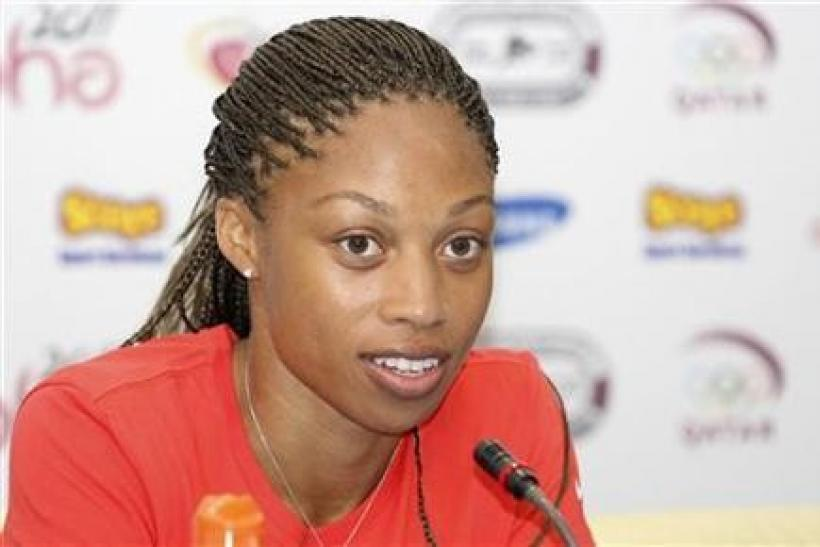 Sprinter Allyson Felix is expected to win the gold medal in the women's 200m final.