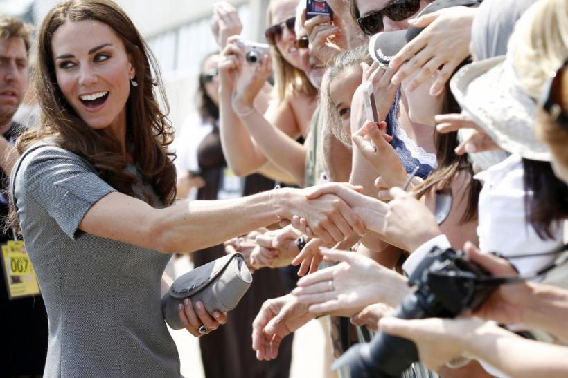 Catherine, Duchess of Cambridge, greets admirers following a reception at the Canadian War Museum in Ottawa