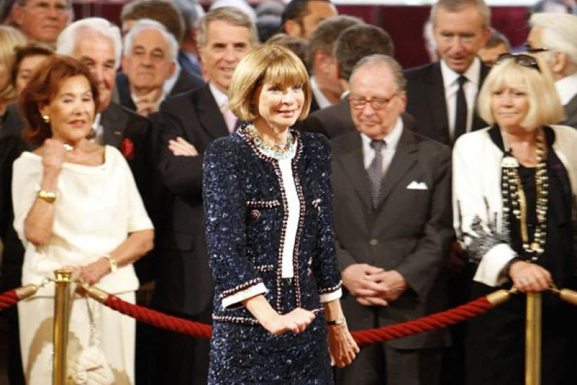 Anna Wintour, Editor of U.S. Vogue, attends the ceremony