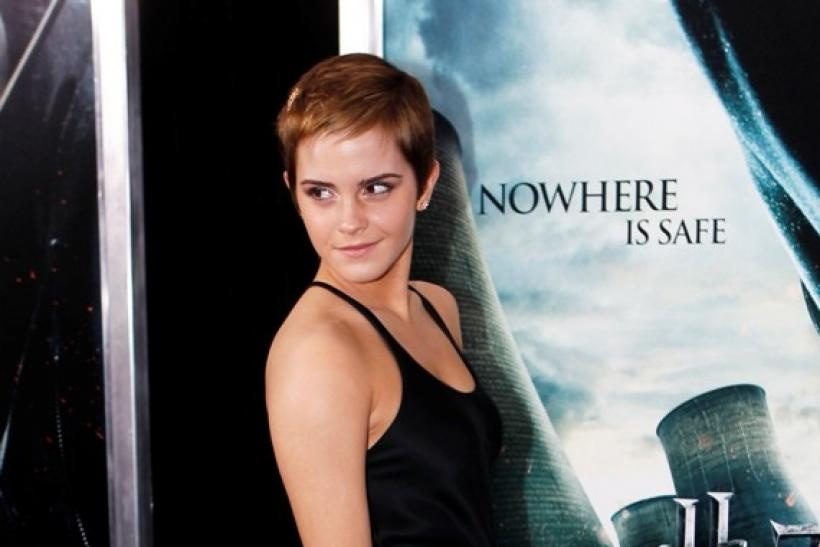 Actress Emma Watson at the premiere of Harry Potter and the Deathly Hallows in New York