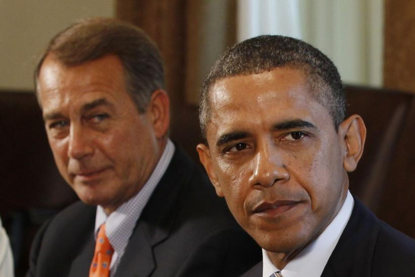 President Barack Obama, D-Ill. with House Speaker John Boehner, R-Ohio