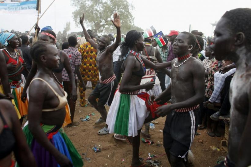 South Sudanese dance during the Independence Day celebrations in Juba