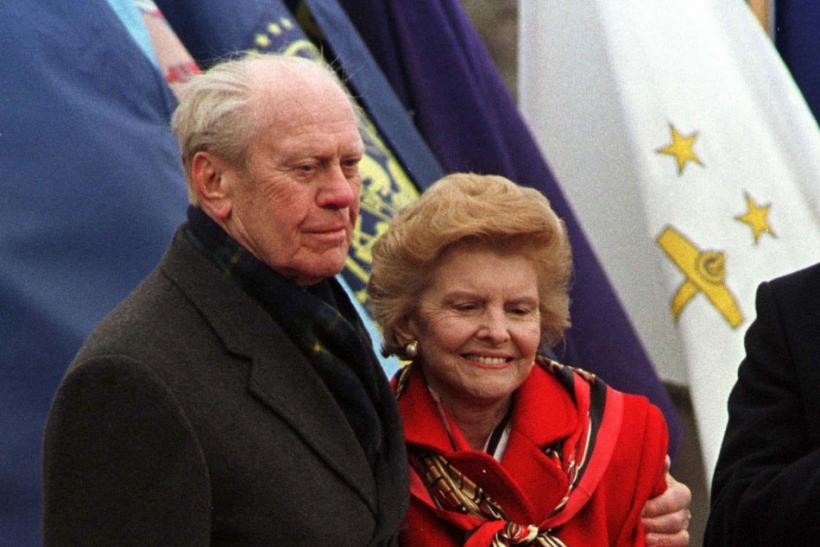File photo of former president Ford and his wife