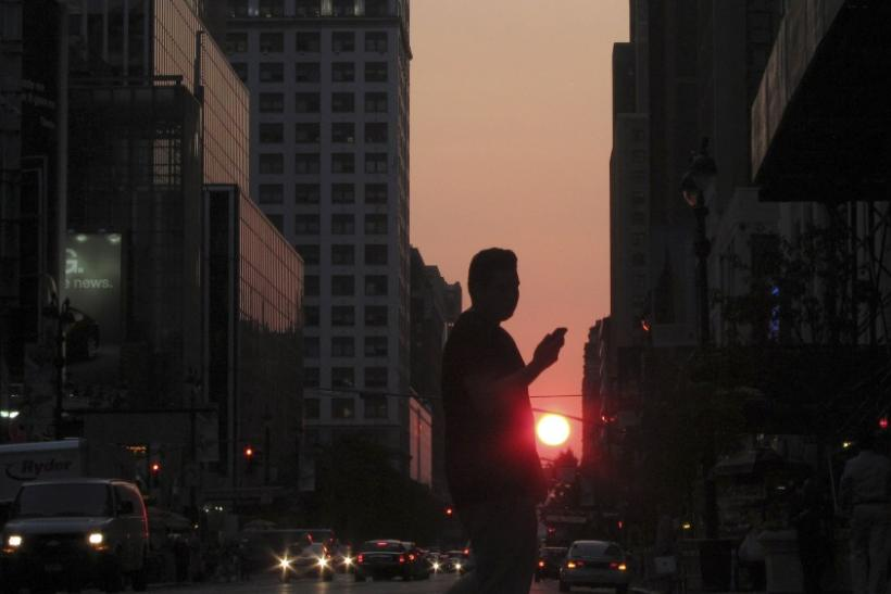 Man in sunset