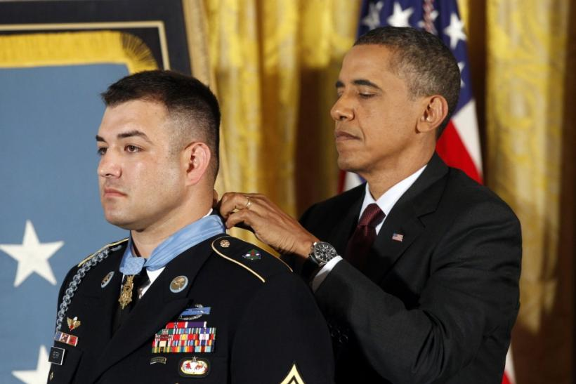 President Barack Obama awarded the Medal of Honor on Tuesday afternoon to Army Ranger Sergeant 1st Class Leroy Petry, the second living soldier to win the military's highest decoration for actions in Afghanistan.