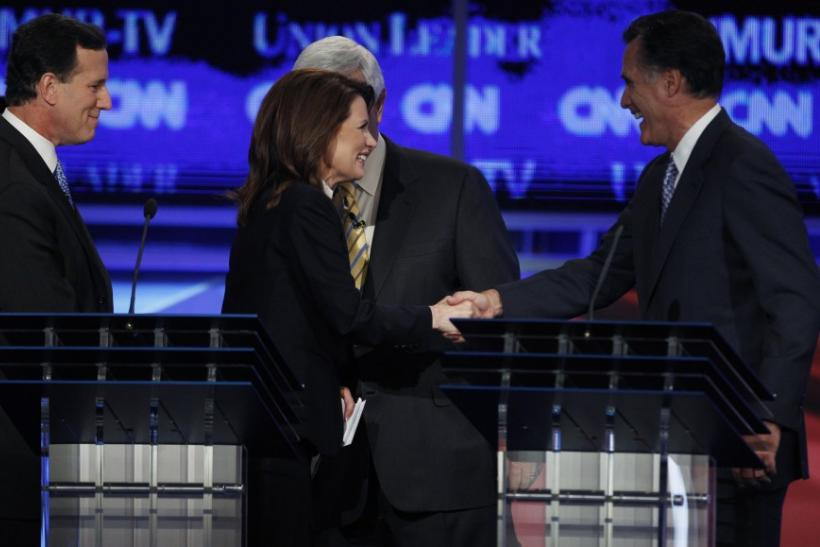 Mitt Romney and Michele Bachmann