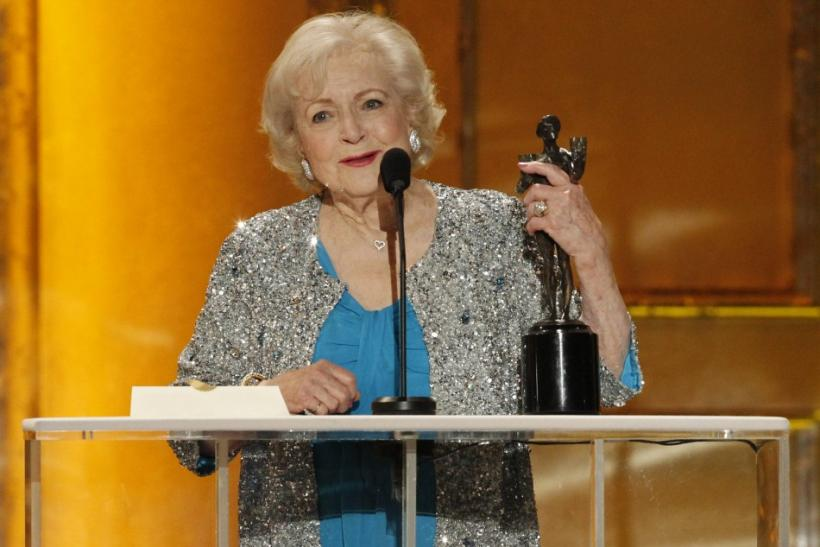 Betty White accepts award at the 17th annual Screen Actors Guild Awards in Los Angeles