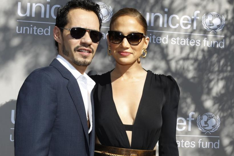 Singer Lopez and husband Anthony arrive at the first annual UNICEF Women of Compassion Luncheon in Los Angeles