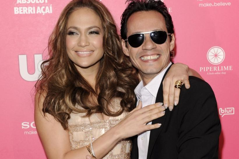 Actress Jennifer Lopez and her husband, singer Marc Anthony, arrive at the Us Weekly Hot Hollywood Style Issue Event in Hollywood, California