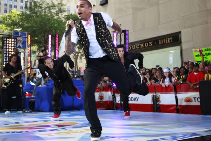 Singer Chris Brown performs on NBC's 'Today' show