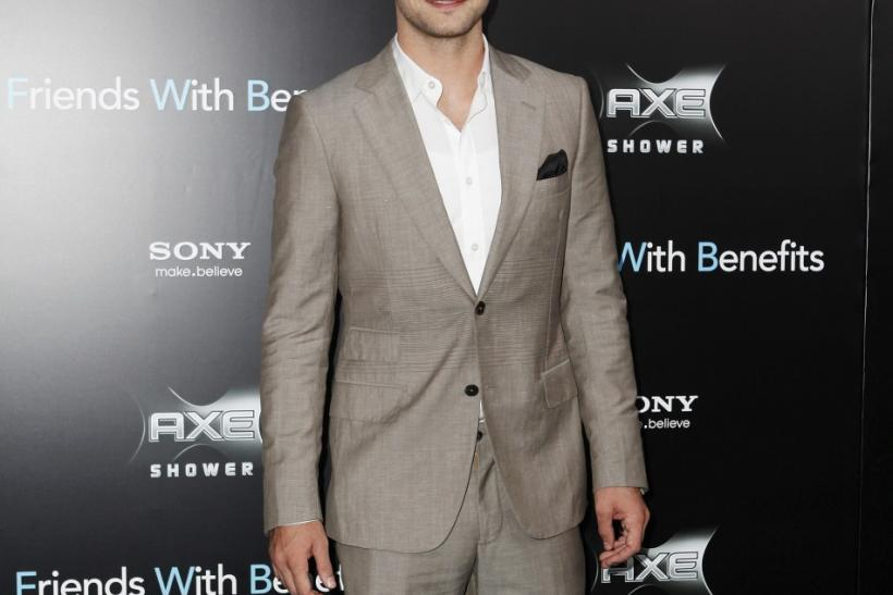 "Cast member Justin Timberlake poses at the premiere for ""Friends With Benefits"" in New York City"