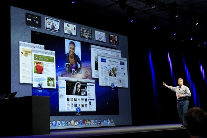 Phil Schiller speaks about improvements to OS X Lion during the Apple Worldwide Developers Conference in San Francisco