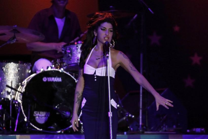 Singer Amy Winehouse performs during a concert in Sao Paulo
