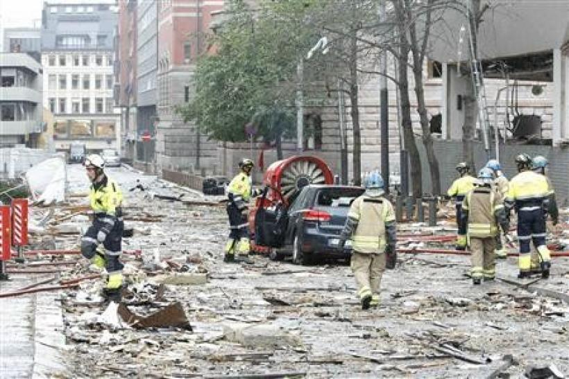 Ruined Images of the Norway Oslo Bomb blast (Slideshow)